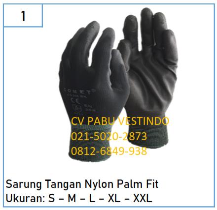 Sarung Tangan Nylon Palm Fit Comet Cg 805 Bk
