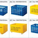 Jual Box Container Keranjang Plastik Industri Serbaguna Ukuran Besar Kecil Rabbit Green Leaf