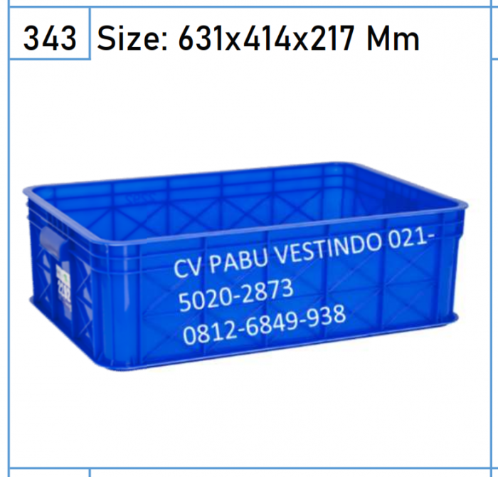 2292 Box Keranjang Container