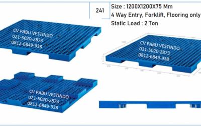 Pallet Plastik 4 Way Forklift, Flooring NPI-1212S