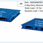 Pallet Plastik 4 Way Entry, Reversible, Forklift P-08